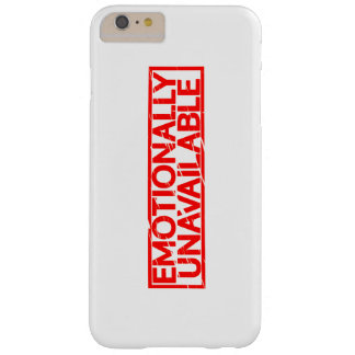 Emotionally Unavailable Stamp Barely There iPhone 6 Plus Case