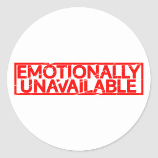 Emotionally Unavailable Stamp Classic Round Sticker