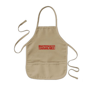 Emotionally Unavailable Stamp Kids Apron