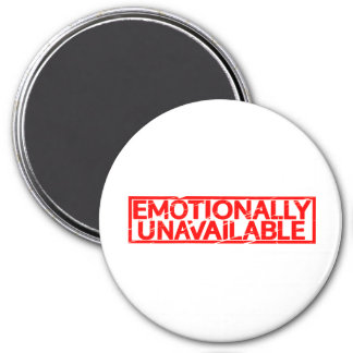Emotionally Unavailable Stamp Magnet