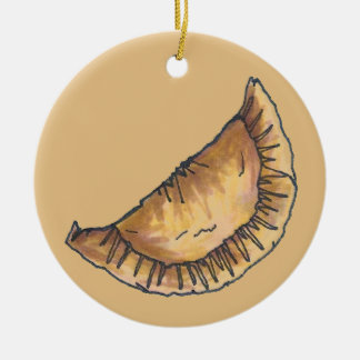 Empanadas Latin South American Fried Cheese Pastry Ceramic Ornament
