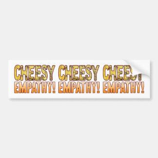 Empathy Blue Cheesy Bumper Sticker