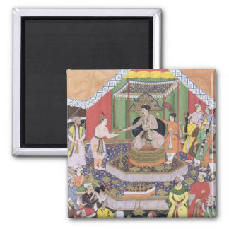 Emperor Akbar (r.1556-1605) entertained by his fos Magnet
