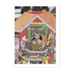 Emperor Akbar (r.1556-1605) entertained by his fos Postcard