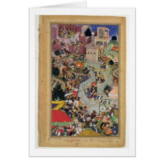 Emperor Akbar (r.1556-1605) shoots Saimal at the S Card