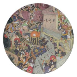 Emperor Akbar (r.1556-1605) shoots Saimal at the S Party Plates