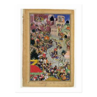 Emperor Akbar (r.1556-1605) shoots Saimal at the S Postcard
