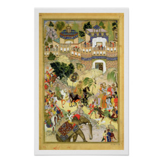 Emperor Akbar's triumphant entry into Surat, from Poster