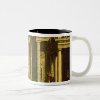 Emperor Augustus and the Sibyl, 1535 Two-Tone Coffee Mug