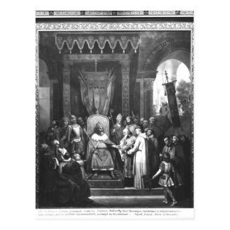Emperor Charlemagne  Surrounded Principal Postcard