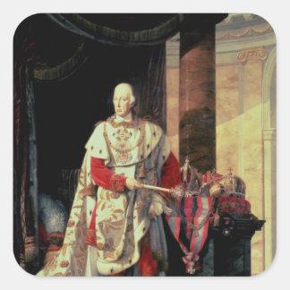 Emperor Francis I of Austria, 19th century Square Sticker