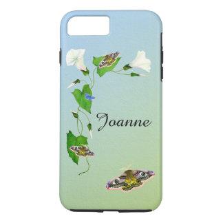 Emperor Hawk Moth Morning Glory Flower Watercolors iPhone 7 Plus Case
