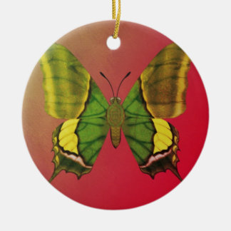 Emperor of India Butterfly Round Ceramic Ornament