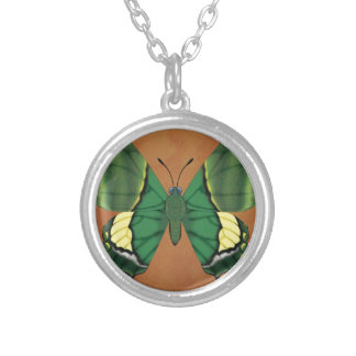 Emperor of India Butterfly Silver Plated Necklace