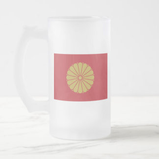Emperor of Japan Frosted Glass Beer Mug