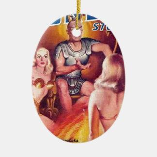 Emperor of Space with his Concubines Ceramic Ornament