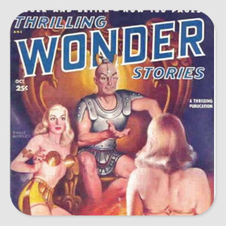 Emperor of Space with his Concubines Square Sticker