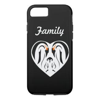 Emperor Penguin Family Love Heart iPhone 7 Case