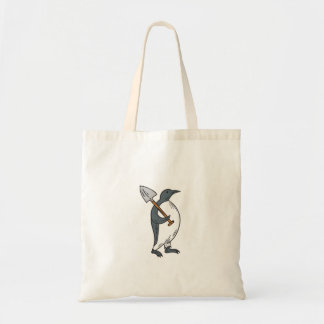 Emperor Penguin Holding Shovel Drawing Tote Bag