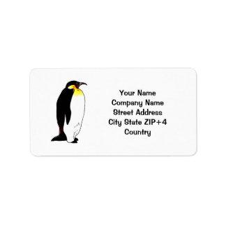 Emperor penguin return address label