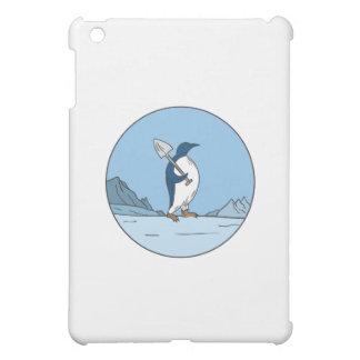 Emperor Penguin Shovel Antartica Circle Mono Line iPad Mini Case