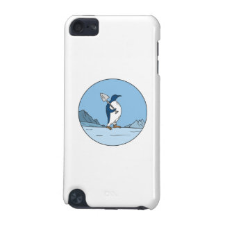 Emperor Penguin Shovel Antartica Circle Mono Line iPod Touch (5th Generation) Cover