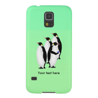 Emperor Penguin Using A Mobile Device Phone Galaxy S5 Cases