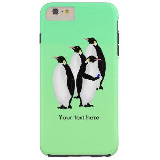 Emperor Penguin Using A Mobile Device Phone Tough iPhone 6 Plus Case