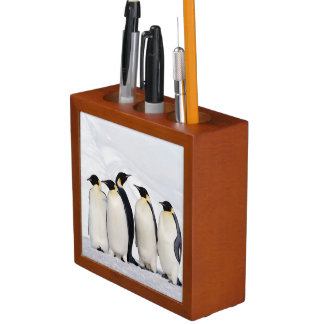 Emperor Penguins Desk Organizer