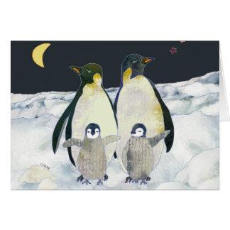 Emperor Penguins in Antarctica Card
