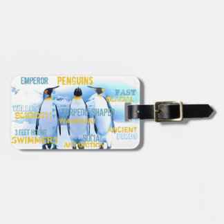 Emperor Penguins Luggage Tag