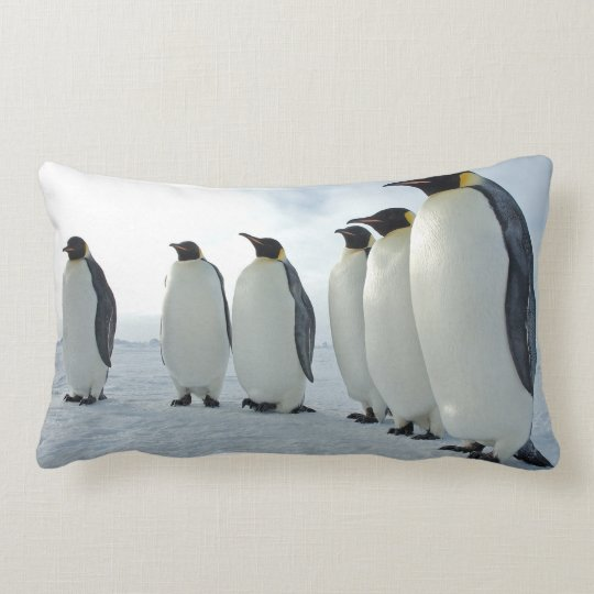 Emperor Penguins Lumbar Pillow