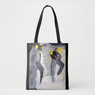 Emperor Penguins on Ice Tote Bag