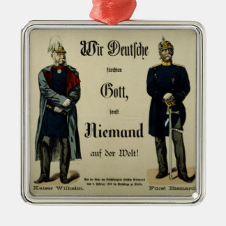 Emperor Wilhelm I and Prince Bismarck Metal Ornament