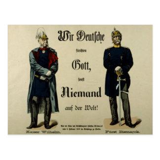Emperor Wilhelm I and Prince Bismarck Postcard