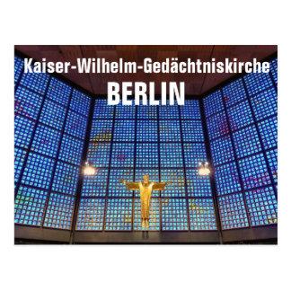 Emperor Wilhelm memory church, BERLIN Postcard