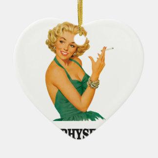 emphysema kill woman ceramic ornament