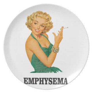 emphysema kill woman plate