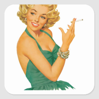 emphysema kill woman square sticker