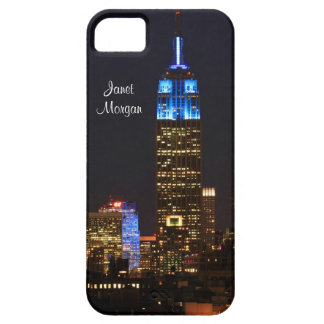Empire State Building, 30 Rock in blue for Autism iPhone 5 Case