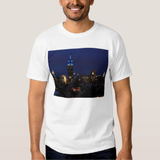 Empire State Building all in Blue, NYC Skyline Tshirt
