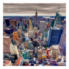 Empire State Building and Midtown Manhattan Poster