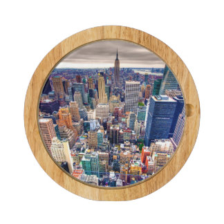 Empire State Building and Midtown Manhattan Rectangular Cheese Board