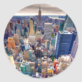 Empire State Building and Midtown Manhattan Round Sticker