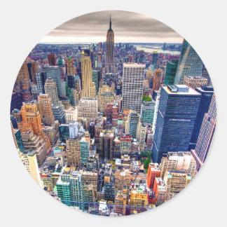 Empire State Building and Midtown Manhattan Round Sticker