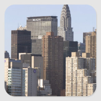 Empire State Building and New York City, New Square Sticker