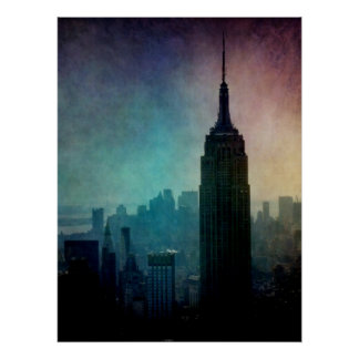 Empire State Building at dusk Poster