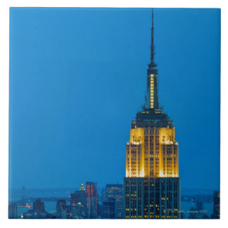 Empire State Building at Sunset Ceramic Tiles