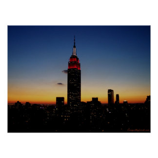 Empire State Building at Sunset Poster