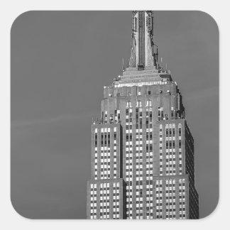 Empire State Building Black and White Photo Square Sticker